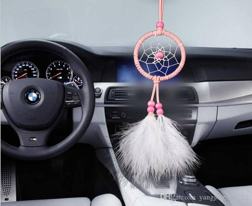 En gros À La Main DreamCatcher De Voiture Suspendu Belle dromenvanger Dream Catcher Art Creative Mini Pendentif De Voiture Ornement Artisanat Wish Gift