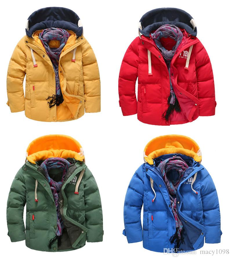 c4ec2bc0f871 Baby Boy Duck Down Jacket Winter Warm Hooded Coat Outwear Waterproof ...