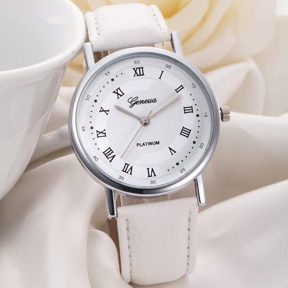 Hot Sale Unique Charming High Quality Splendid Luxury Unisex Leisure Dial Leather Band Analog Quartz Wrist Watch Watches
