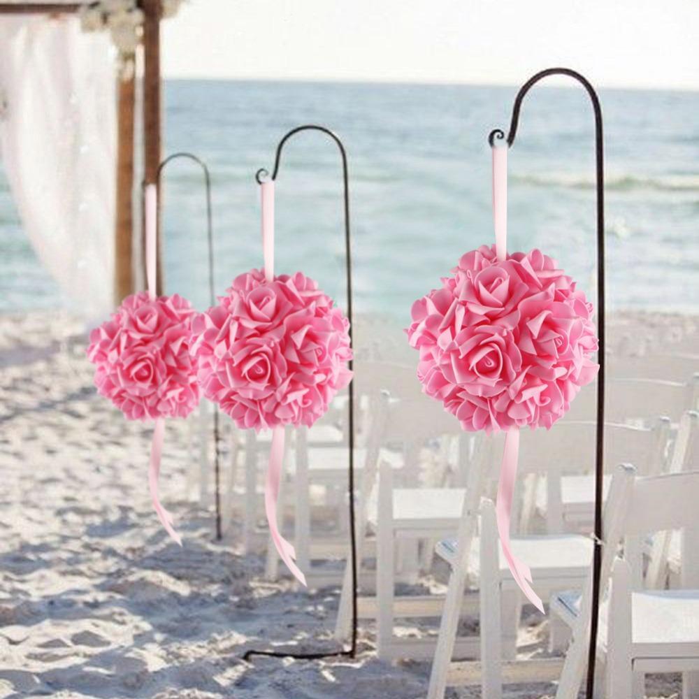 Rose Flower Ball Centerpieces Silk Flower Ball For Wedding ...