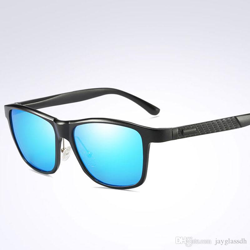 0a342cb1ced15 Compre Clássico Óculos De Sol Polarizados Marca De Design De Alta Qualidade  Homens Condução Óculos De Sol Masculino Quadrado Óculos De Visão Noturna  Óculos ...