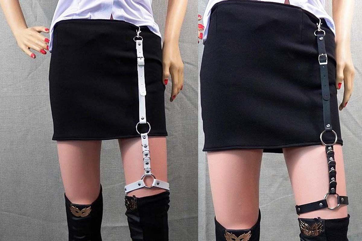 1c3d7c7d86 Compre Venta Caliente Punk Gothic Faux Leather Garter Belt Muslo De La  Pierna Alta Arnés Tirantes Correas Streetwear Accesorios Para Shorts Falda  A  19.79 ...