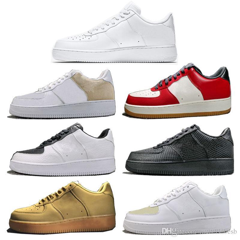 1 Classic Skateboarding Shoes Mens Womens One Low White Fashion ... 46b55061a