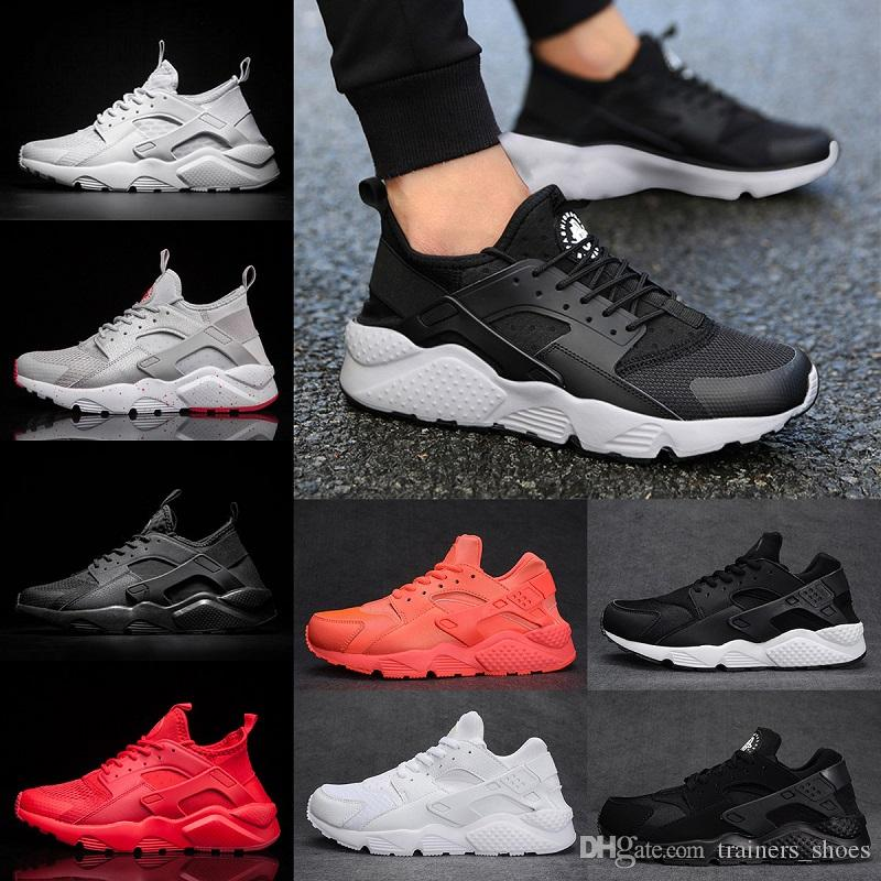 dcb101936a03 Cheap Huarache 4 IV Mens Running Shoes Triple White Black Red Oreo High  Quality 2018 Huaraches Men Womens Sport Sneakers Size 5.5 11 Good Running  Shoes ...