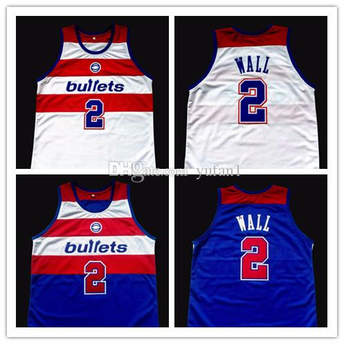 ... discount 2018 john wall washington bullets white blue basketball jersey  mens embroidery stitched custom any number b72259870