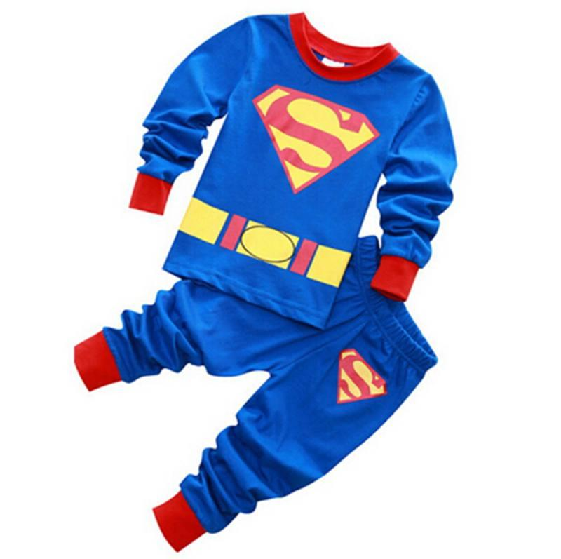 All Sizes 100/% Cotton Boys Superman Pyjamas Long sleeves and bottoms