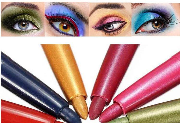 All'ingrosso-MENOW Marca Auto-ruotare Eyeliner Pen Eye Shaow Matita di trucco Set Waterproof Long Lasting Eyeliner Ombretto Moda Cosmetici