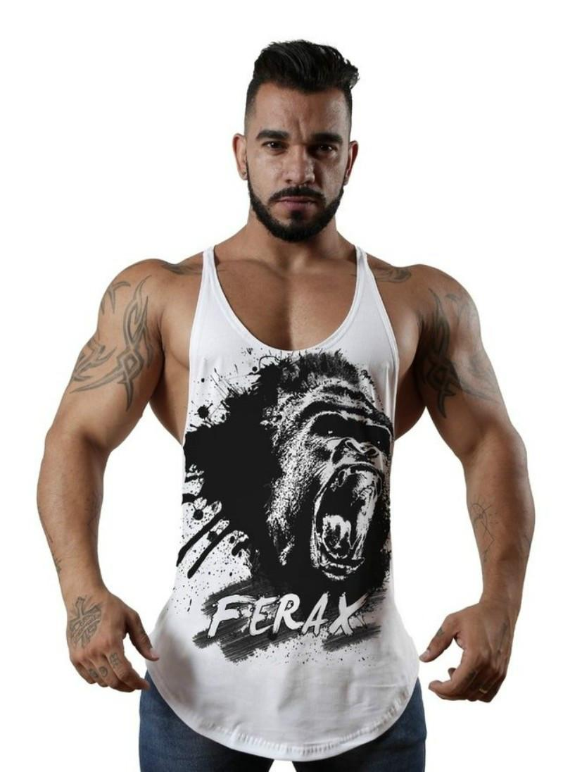 4ef17973e233c Hot Sale King Kong Printing Vest Men S Tank Tops Sleeveless Shirt Tank Tops  Bodybuilding Fitness Men S Singlets Workout Clothes Online T Shirt Shopping  ...