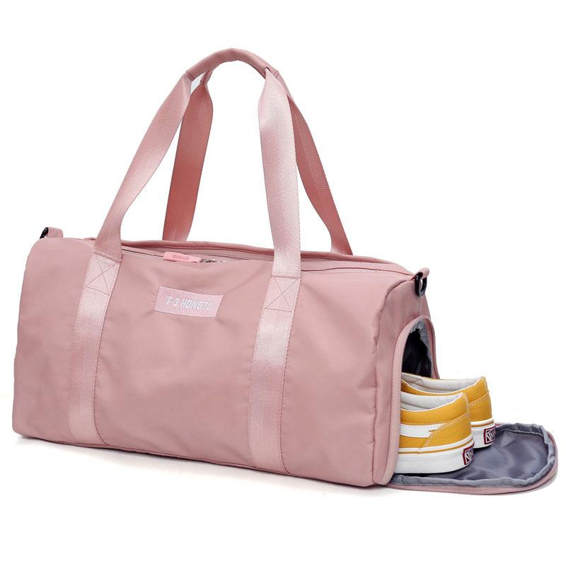 440cdf71a904 2019 Female Gym Bag Women Fitness Yoga Sports Bag Handbags Bolsa Training  Travel Men Lady S Big School Shoe Black Pink 2018 From Duriang
