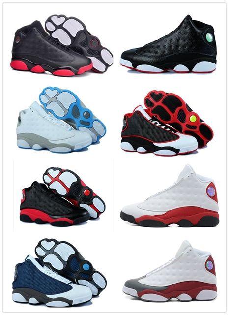 da6a6c06c1d Cheap 2018 Shoes 13 XIII 13s Men Basketball Shoes Women Bred Black ...