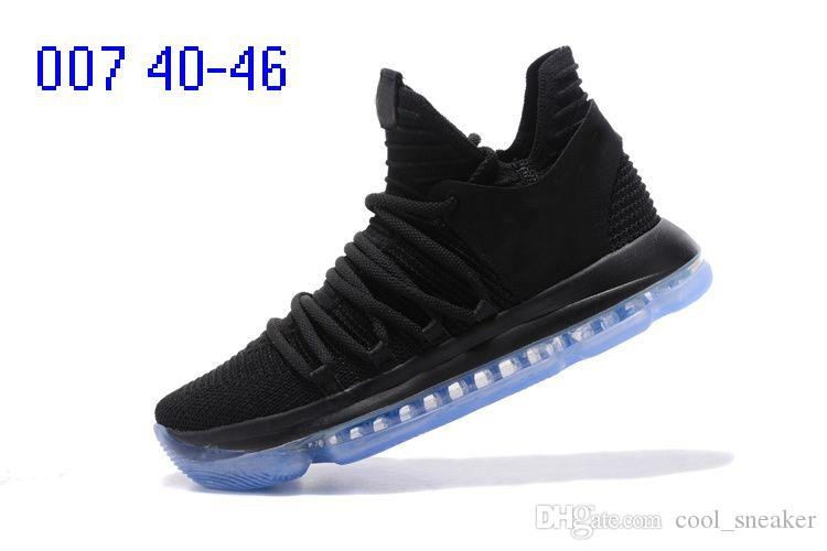 2018 ZOOM KD BHM Kevin Durant 10 X Triple Black Elite For Mens Basketball Shoes low cut Athletic Sport Sneakers