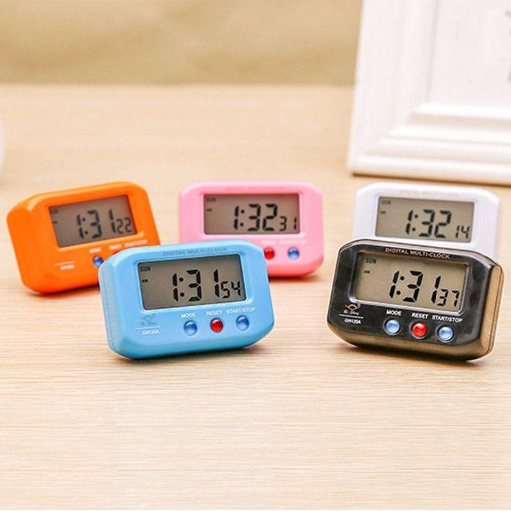 d221fdf7cf5 Compre Tamanho De Bolso Portátil Despertador Eletrônico Digital Automotivo  Cronômetro Eletrônico Relógio LCD Com Snooze Backlight Ferramenta De Viagem  De ...