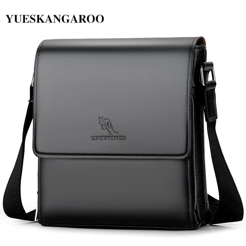 be7f5d8a5e26 YUESKANGAROO New Luxury Brand Men Leather Shoulder Bags Business ...