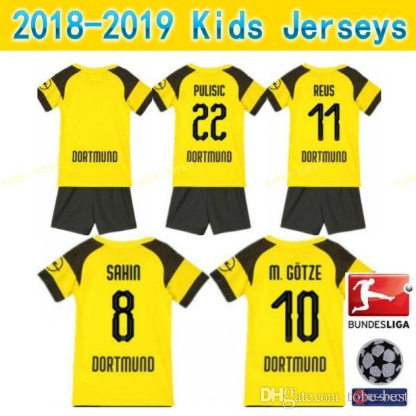 813d3237f Compre Crianças Borussia Dortmund Juventude REUS Conjuntos De Futebol  Jersey BVB Crianças Bundesliga GOTZE PULÍSTICO KAGAWA WEIGL BURKI Camisa De  Futebol ...