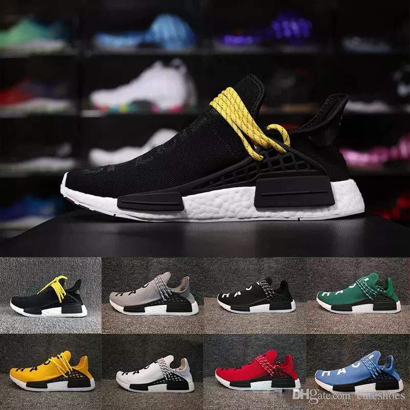 12df30c67cc36 Facotory Human Race Trail Running Shoes Mens Women S Pharrell Williams X  Holi Blank Canvas Sports Shoes Online Sale White Tennis Shoes For Kids Girl  Gym ...