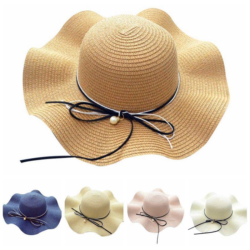 Liva Girl Summer Straw Hat Women Fashion Wide Brimping Brim Beach Cap Sun  Block UV Protection Panama Bone Chapeau Femme Ete 2018 Cowboy Hats Pork Pie  Hat ... 44a6a9e209e1