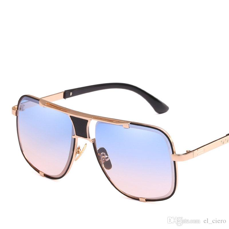 8b5656fc2fb5f Compre Piloto Do Vintage Designer De Óculos De Sol Dos Homens Da Marca De  Luxo Senhoras Quadrados Shades Retro Grandes Óculos De Sol Do Sexo Feminino  Do ...