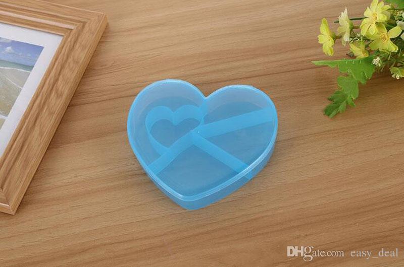 5 Zellen Fach Kunststoff Aufbewahrungsbox Fall Schmuck Werkzeuge Herzform Perlen Kleine Sachen Container Taschen Für Schmuck ZA5688