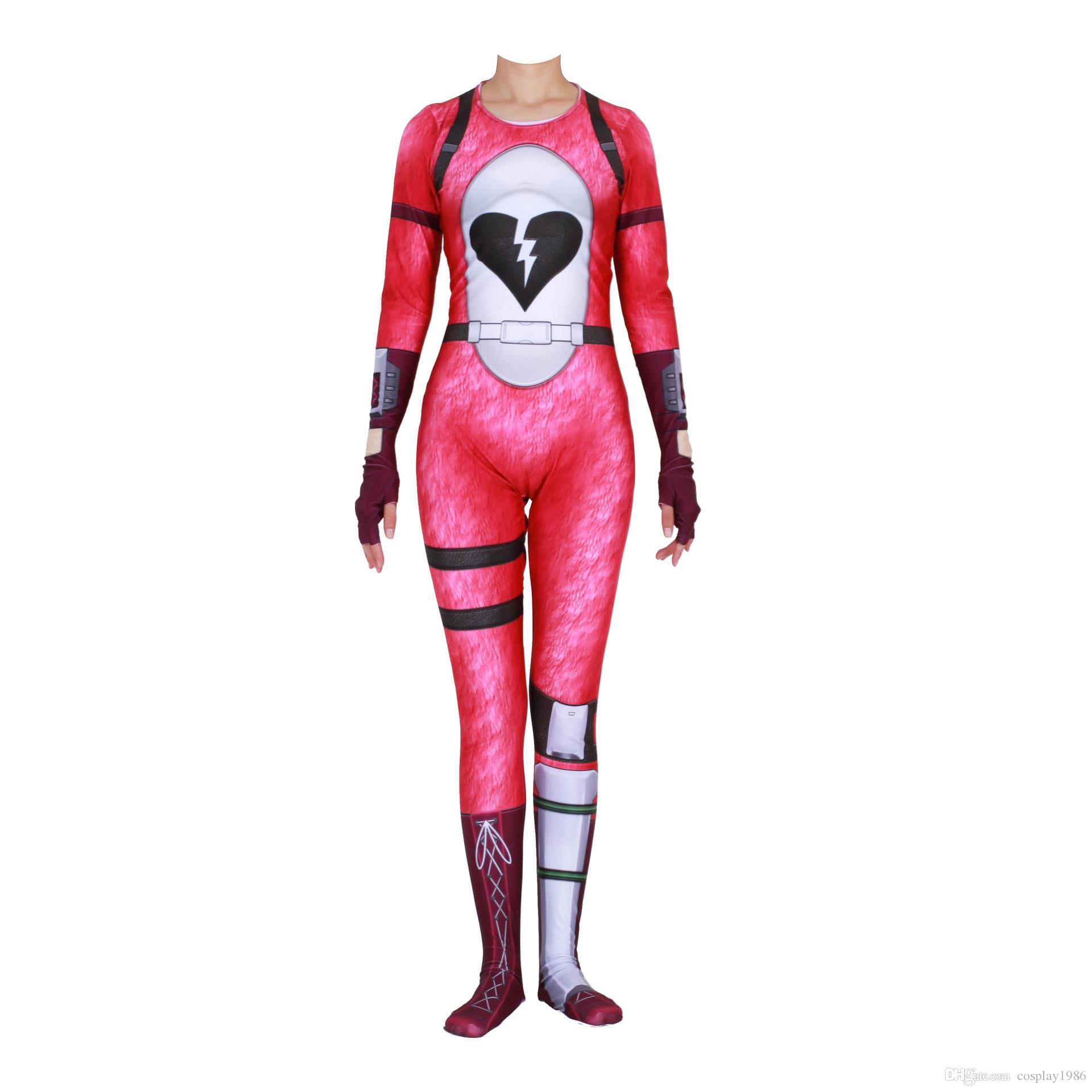 Fortnite Halloween Costumes 2019.Cosplay Game Fortnite Cuddle Team Adult Women Costume Halloween Party Dance Superhero Suit Plugsuit Jumpsuits Catsuit Zentai