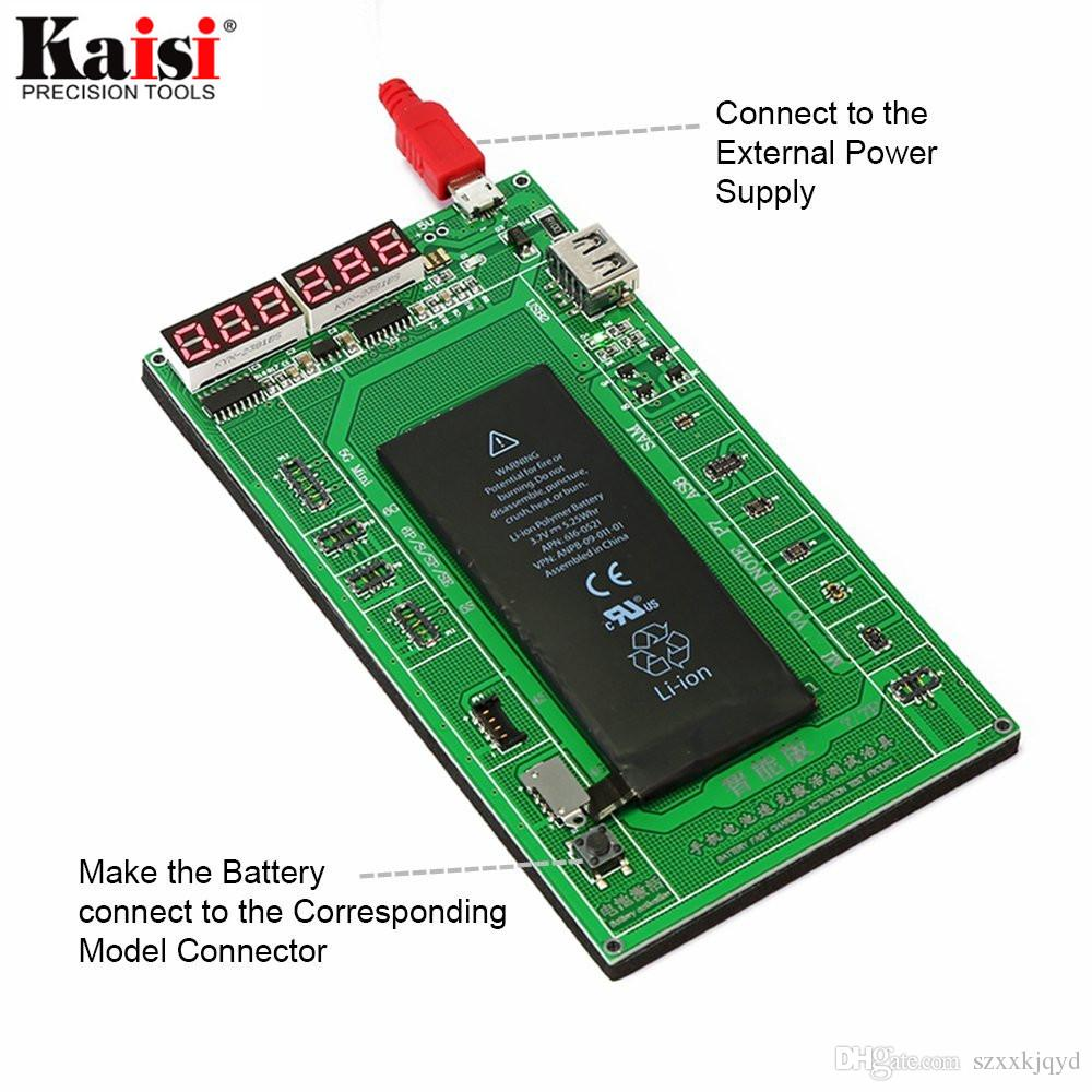 Kaisi Phone Battery Activation Board Plate Charging USB Cable Jig For iPhone 4 5 6 7 VIVO Huawei Samsung xiaomi Circuit Test