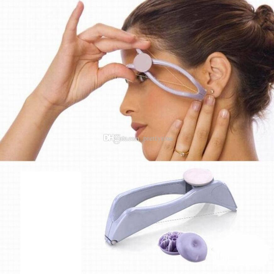 Epilatore facciale del dispositivo di rimozione dei capelli del corpo del fronte facciale strumento di bellezza di DIY Bello trucco di depilazione del facial di epilatore Strumenti di bellezza di trucco regalo