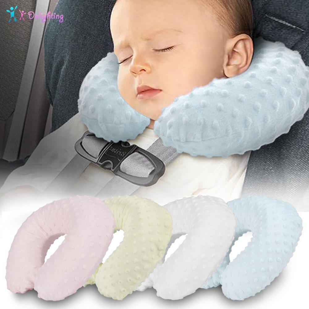 Soft Kids Children Car Neck Support Pillow Baby Safety Washable Headrest Sleep Seat Cushion For Travel Stroller Accessories Decorative Couch Pillows