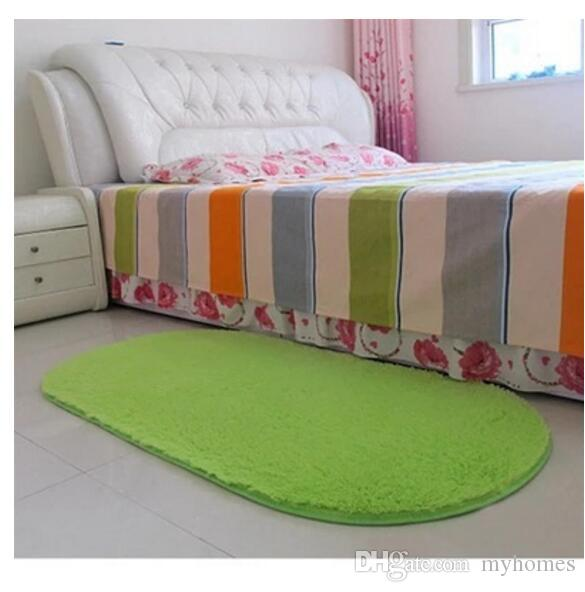 High Quality Bedroom Flutty Round Rugs Anti-Skid Shaggy Living Car Area Rug Dining Room Home Carpet Floor Mat Flokati Sofa Bed Bedroom Carp