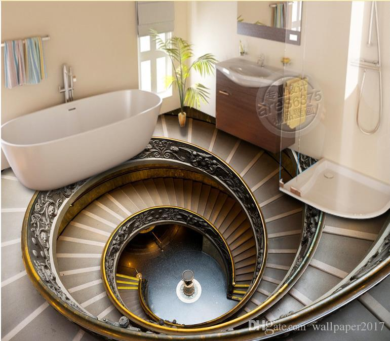 Luxury Floor Wallpaper Spiral Staircase 3d Floor Outdoor