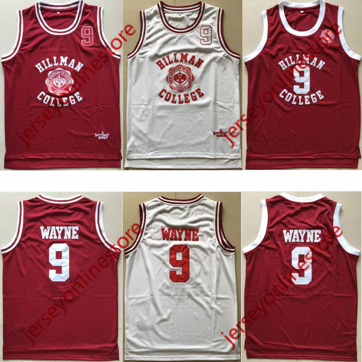 7af5c9b97f6f 2019 Men Hillman College 9  Dwayne Wayne Jersey White Red Wholesale 1881 A  Different World Movie Basketball Jerseys From Jerseyonlinestore