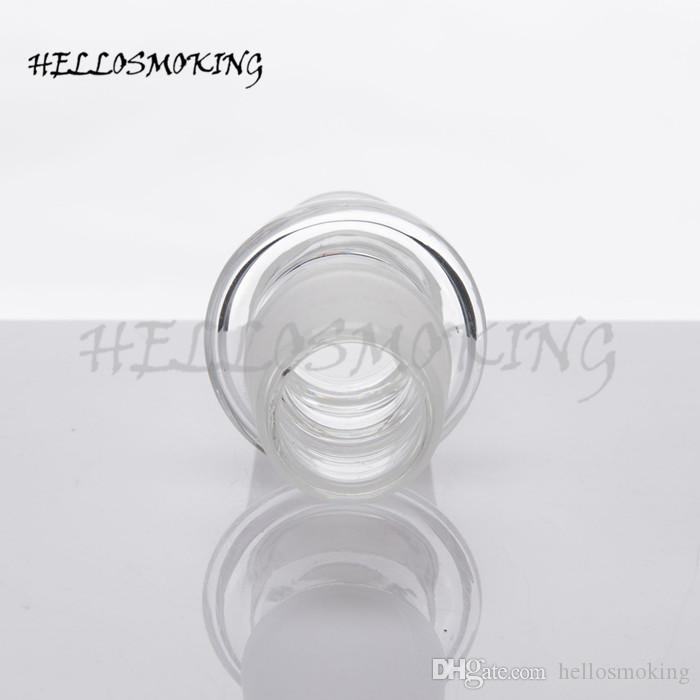 Glass DropDown Adapters 14M to 14M &19M to 19M Frosted Joint for Glass Bong Glass Water Pipe hellosmoking 046