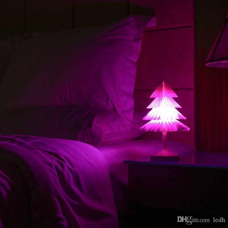 2018 night light bedside lamp usb computer christmas tree night light touch control usb charging battery powered folding xmas tree from ledh