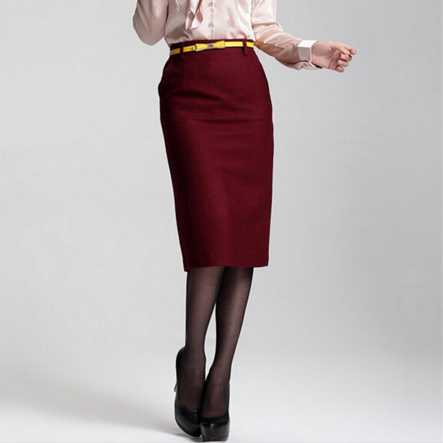 e1c615601 2019 New Fashion Women Skirts Spring Winter Skirt High Waist Pencil ...