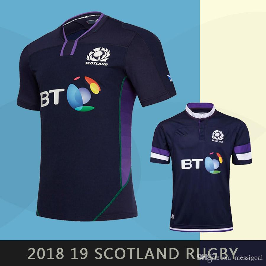 8ba1bafdc New Style 2018 Scotland Rugby Jersey 18 19 Home World Cup Mens ...