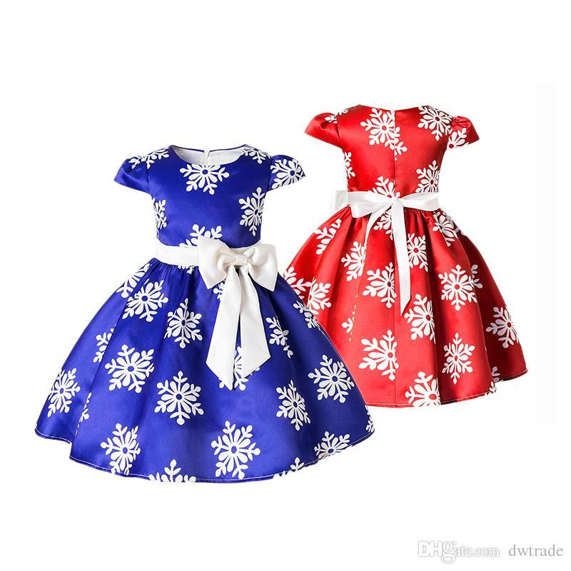 0b8366efa95b Compre 2018 Princesa De Navidad Vestidos Niñas De Verano Vestidos De Tutú  De Niña De Verano Vestidos De Niños Para Niñas Ropa A $7.9 Del Dwtrade |  DHgate.