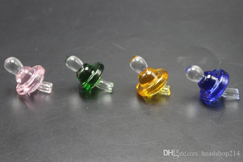 أنابيب 25MM OD العالمي من الزجاج الملون كارب كاب قبة على الكوارتز التيتانيوم السجق الأظافر زجاج المياه، النفط اللمسة الحفارات زجاج بونغ