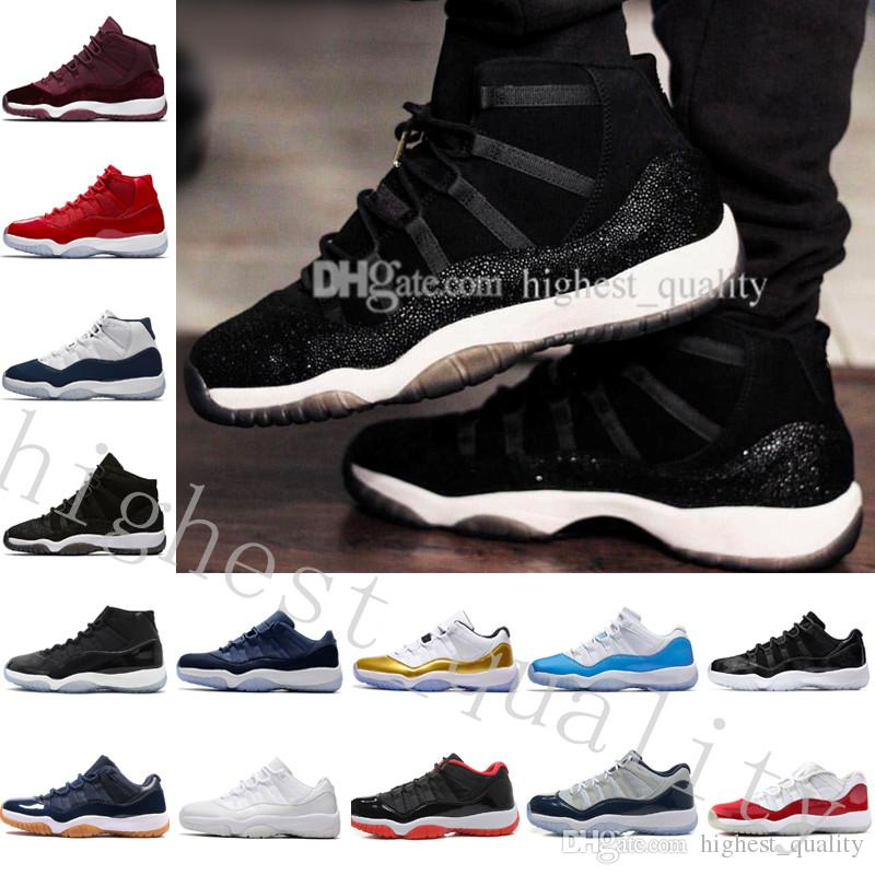 2018 Top Quality 11 Space Jam 45 Basketball Shoes Men Women 11s Space Jam With Number 45 Sports Sneakers With Shoes Box US 5.5-13 Eur 36-47