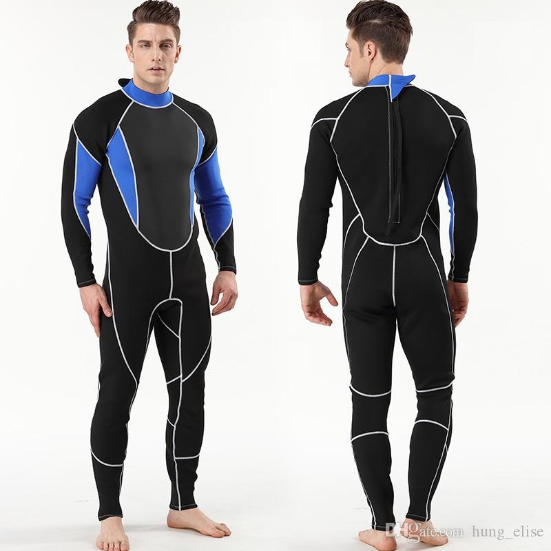 2018 2mm men's neoprene diving wetsuit One piece diving suit spearfishing wetsuit scuba snorkelling diving equipment