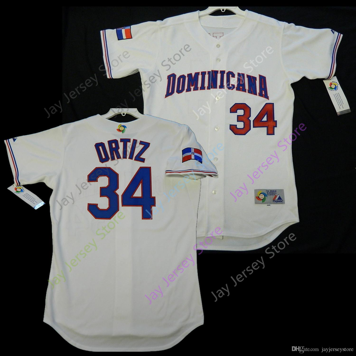 David Ortiz Dominican WBC 2006 World Baseball Classic Jersey Home White All  Stitched Size S-4XL David Ortiz Jersey Online with  43.79 Piece on ... c5dbe56f402