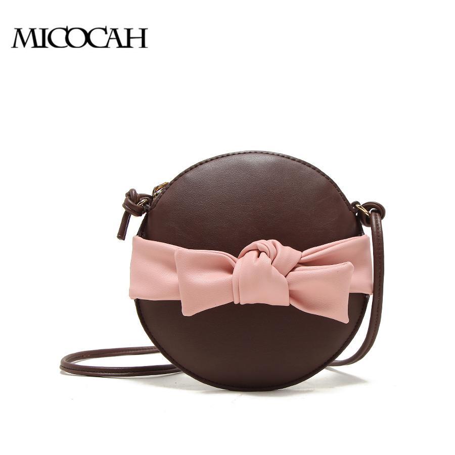 b55475b6a62b3 Großhandel MICOCAH Bow Frauen Clutch Schwarz Crossbody Frauen Bag Rund Stil Mode  Taschen 3 Schwarz   Rot   Kaffee NCS086 Y1891907 Von Shenyan02