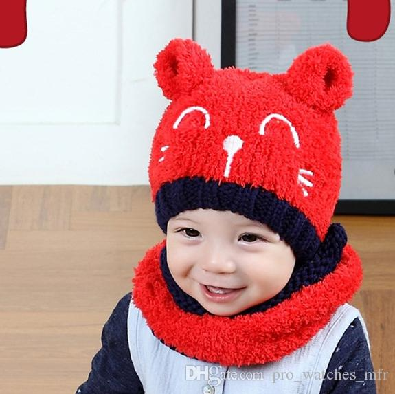 60935a1264b Autumn And Winter Wool Hats Children S Plush Warm Knitted Hats Cute Baby  Beanie Hat Scarf Wholesale D026 Beanies For Men Trucker Caps From  Pro watches mfr