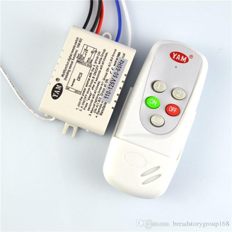 Smart Travers Pour Ac110v Ac220v 2 À Le Mur Led Control Voies Lampe Wireless Télécommande Digital Switch Remote 3cRS54jqAL