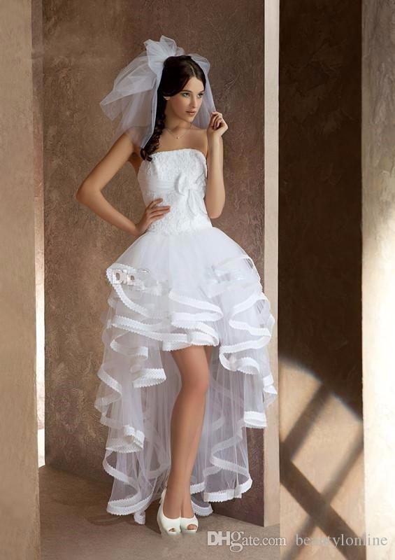 compre vestido de novia high low beach vestidos de novia espalda