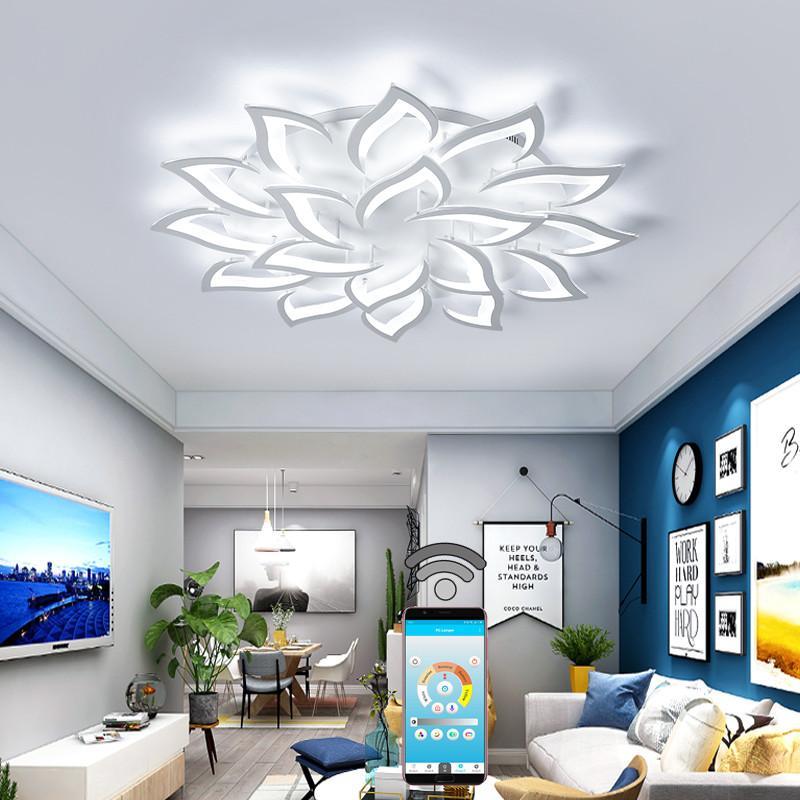 Acquista Nuovo Fiore Illuminazione Interni Moderno LED Plafoniere ...