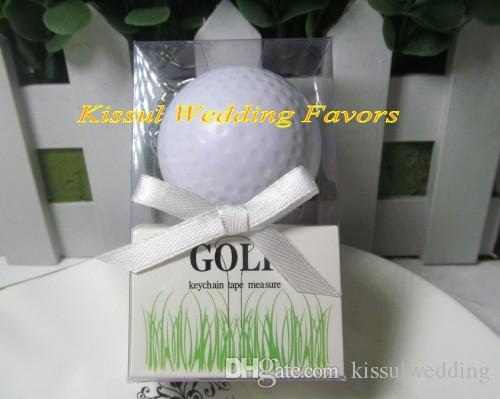 Sporty theme Wedding gift A Leisurely Game of Love Golf Ball Tape Measure Favors For Guests and Wedding Decorations