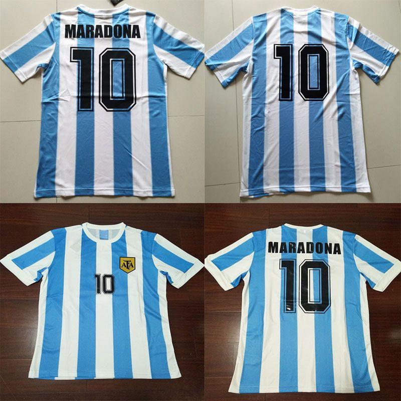 Compre 86 Maradona Argentina Retro Futebol Jersey 1986 Vintage Clássico 78  Argentina Maradona 1978 Futebol Camisas Camiseta De Futbol De  Malingjun1981 e399e44426249