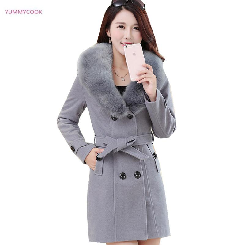 e0f4771cae9 2019 Plus Size M 5XL Winter Coat Medium Length Women Woolen Jacket Female Maxi  Coats Slim Women S Winter Jackets Cotton Wool Coats 19 From  Superwonderland