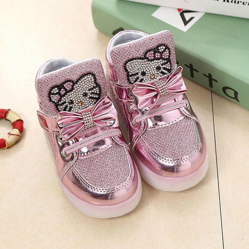 08c967c0 Compre Precio Bajo Niños Calientes Zapatos Luminosos Niños Chicas Deportes  Zapatillas De Running Luces Intermitentes Para Bebés Zapatillas De Deporte  Para ...