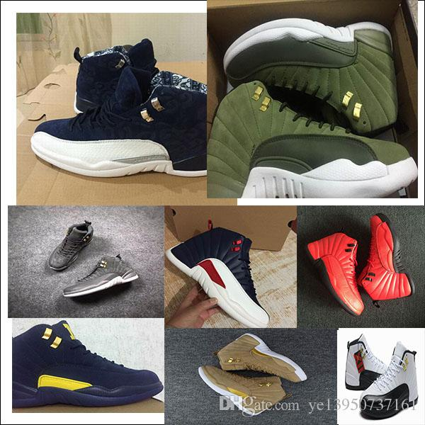 e6fe8474b3394a 2018 12s Mens Casaul Shoes Wheat Dark Grey Bordeaux Flu Game The Master  Taxi Playoffs University Gamma French Blue Gym Red Casaul Shoes Slip On  Shoes Formal ...