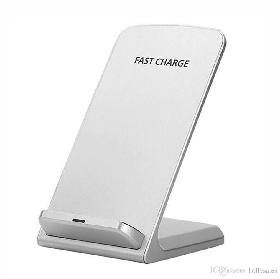 Top qualité Qi rapide chargeur sans fil 5v 2A 9v 1.3A 10W 2 bobines charge rapide pad de support pour iphone x samsung s9 plus xiaomi mix2s