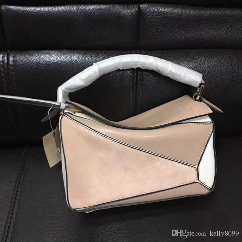 contrast color BAG brand design top quality real Leather PUZZLE bag / tote Come with Dust Bag cards L0153 FOR WOMENS LW0082